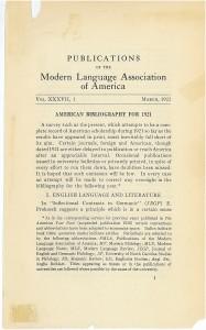 1922 PMLA Bibliography Title P jpeg